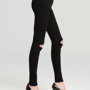 J Brand super skinny jeans in Blackout